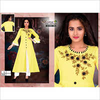 Fancy Yellow Palazzo Suit