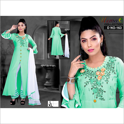 Ladies Kurti And Palazzo With Dupatta