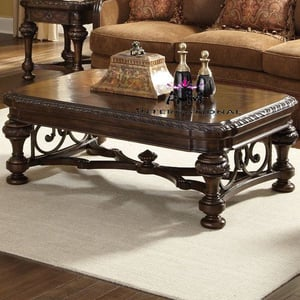 handcrafted wooden center table