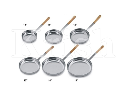 Professional Frying pan with Wooden Handle Tin Coated