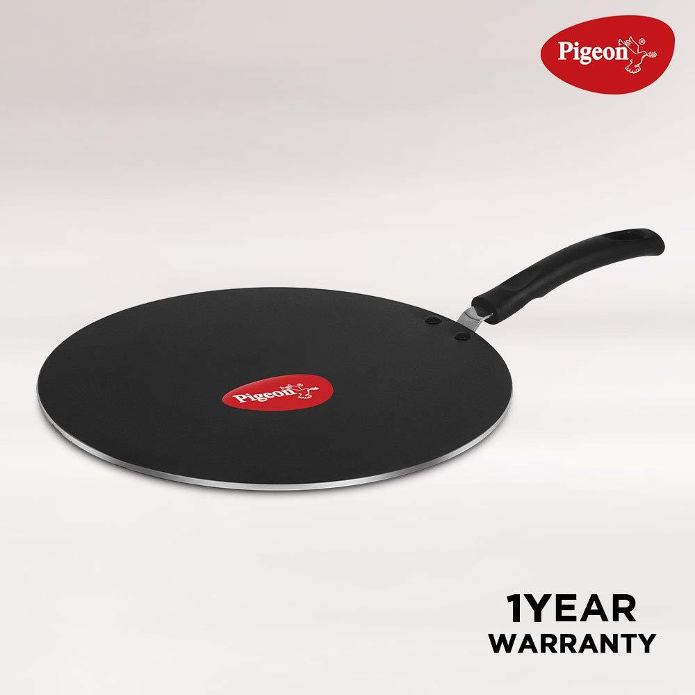 Pigeon by Stovekraft Non-Stick Multi Tawa, 31cm,Black