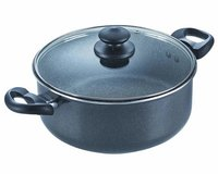 Prestige Omega Deluxe Granite Sauce Pan with Lid, 240mm
