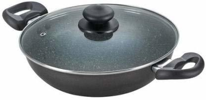 Prestige Omega Deluxe Granite Kadai, 240mm, Black