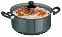 Hawkins Futura Non-Stick Stewpot with Glass Lid, 5 litres