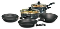 Hawkins Futura Non-Stick Cookware, 7-Pieces, Black