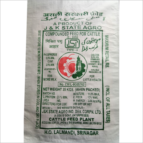 Cattle Feed PP Woven Bags