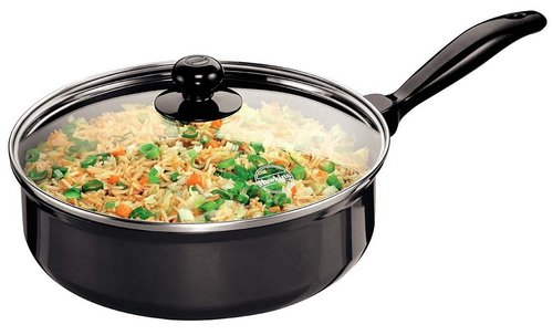 Hawkins Futura Non-Stick Saute' Curry Pan with Glass Lid, 3.25 litres