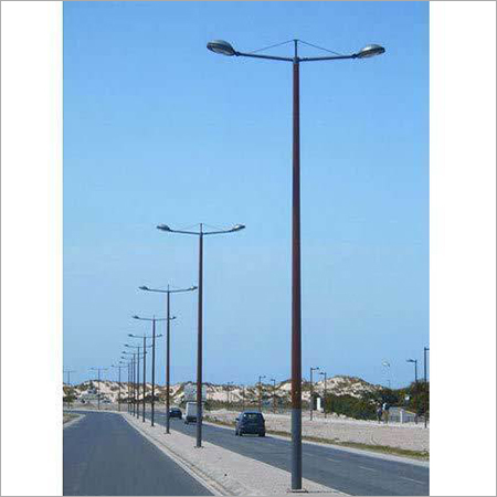 Dual Arm MS Street Light Pole