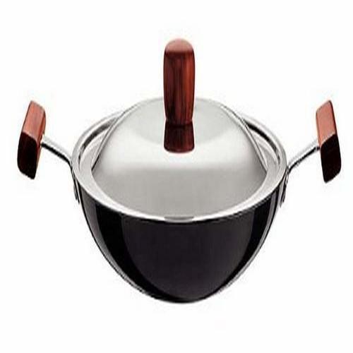 Hawkins Futura Non-Stick Appachatty Round Bottom Breakfast Pan with Steel Lid, 22cm