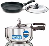 Hawkins Stainless Steel 3 LTR Pressure Cooker & Futura Nonstick Frying Pan