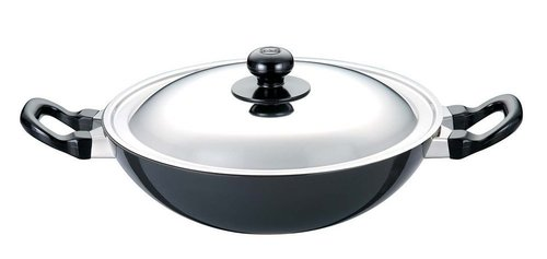 Hawkins Futura Non-Stick Round Bottom Deep-Fry Pan with Steel Lid 2.5 Litre
