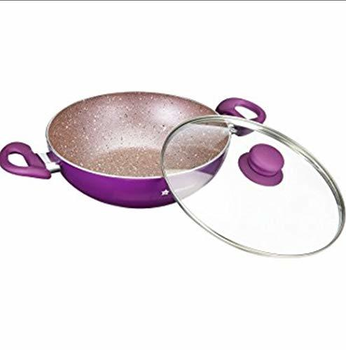 Wonderchef Royal Velvet Induction Base Aluminium Cookware Set, 5-Pieces, Purple