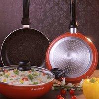 Wonderchef Athena Cookware Set, 3-Pieces, Brown