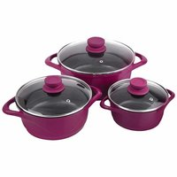 Wonderchef Ceramide Casserole Set, 6-Pieces, Pink