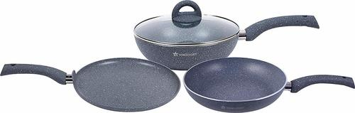 Wonderchef Granite Cookware 3 piece Set with 26cm Dosa Tawa