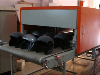 Conveyorized Oven for drying helmet paint