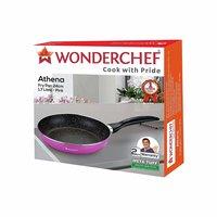 Wonderchef Athena Aluminium Fry Pan,24cm,1.7L,Pink