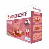 Wonderchef Rose Gold Aluminium Cookware Set, 5-Pieces, Rose Gold
