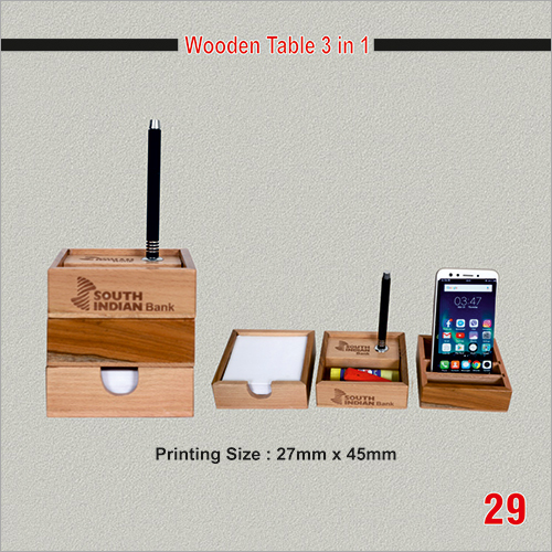 Wooden Table 3 in 1