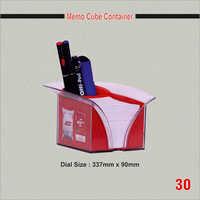 Memo Cube Container