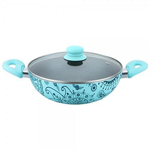 Wonderchef Oscar Blu Doppio Aluminium Cookware Set, 4-Pieces, Blue/Black