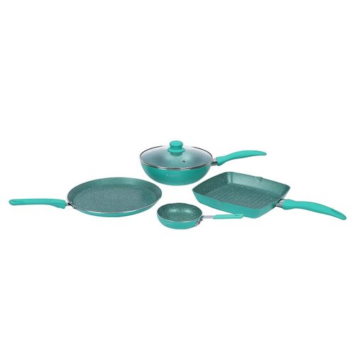 Wonderchef turquoise Celebration Set, 5-Pieces, Turquoise Blue