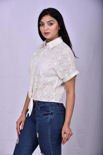 Embroidery Schiffly Shirt
