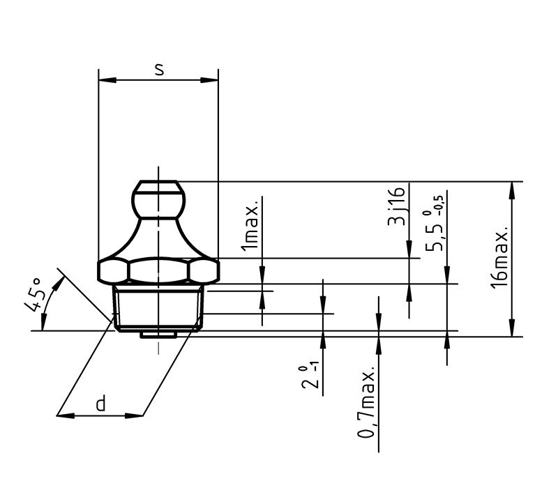 DIN 71412 A Taper Type Grease Nipples
