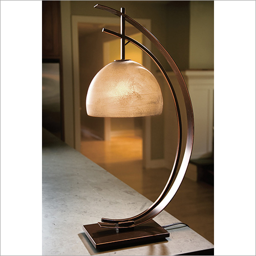 Glass Shade Candle Table Lamp