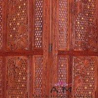 handcrafted wooden room divider