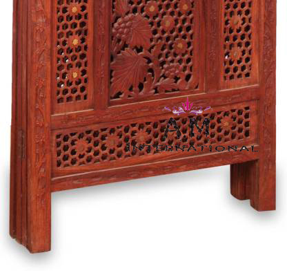 handcrafted wooden room divider