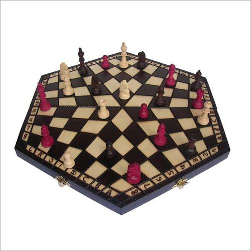 Three Player Medium Wooden Chess