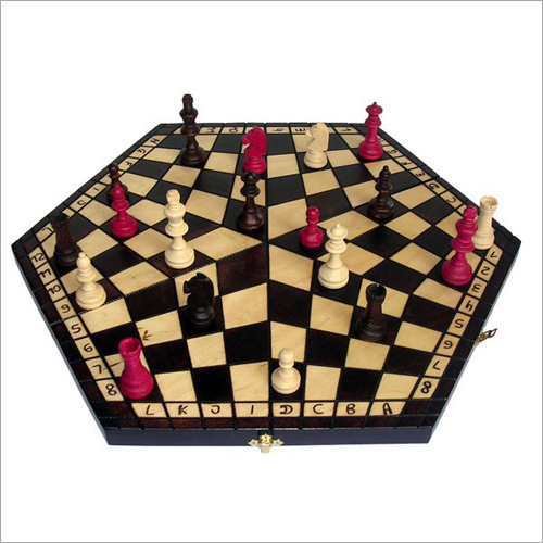 Three Player Small Wooden Chess