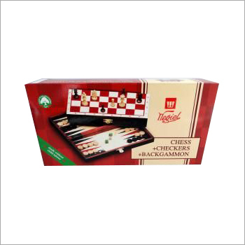 3 in 1 Checkers And Backgammon