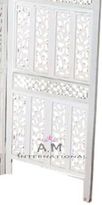 handcrafted white partition