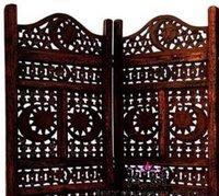 moon design wooden room seperator