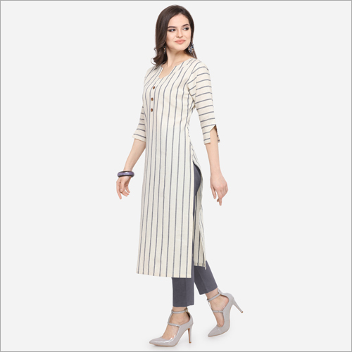Ladies Striped Kurti
