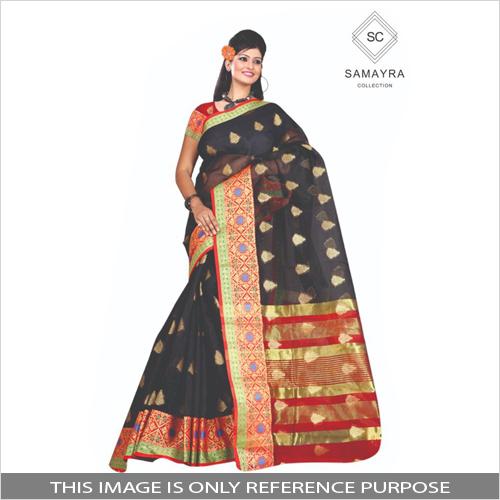 Partywear Jacquard Silk Saree
