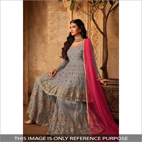 Embroidered Sharara Suit