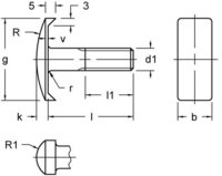 DIN 25193  Screw Clamp With a Large Rounded Head