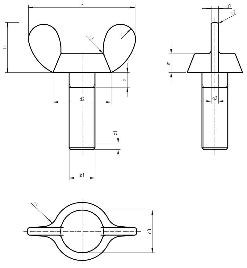 DIN 316A Wing screws