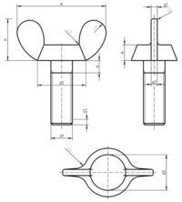 DIN 316D Wing screws