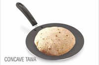 Tosaa Induction Base 3 mm Concave Tawa, Diameter 25.7 cm, Black
