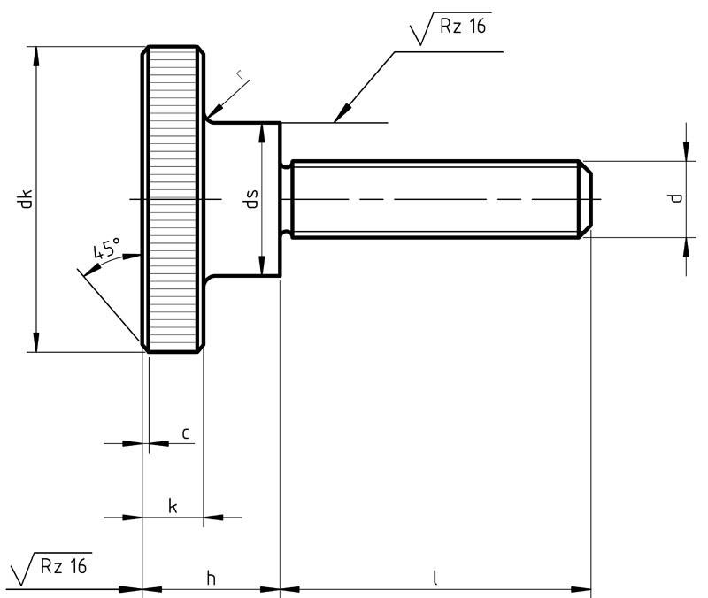 DIN 464 Knurled Thumb Screws High Type