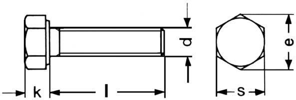 DIN 558 Hexagonal Screws