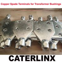 Tinned Brass or Copper Spade Terminals for Transformer Bushings