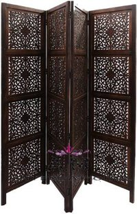 indian design wooden room partition