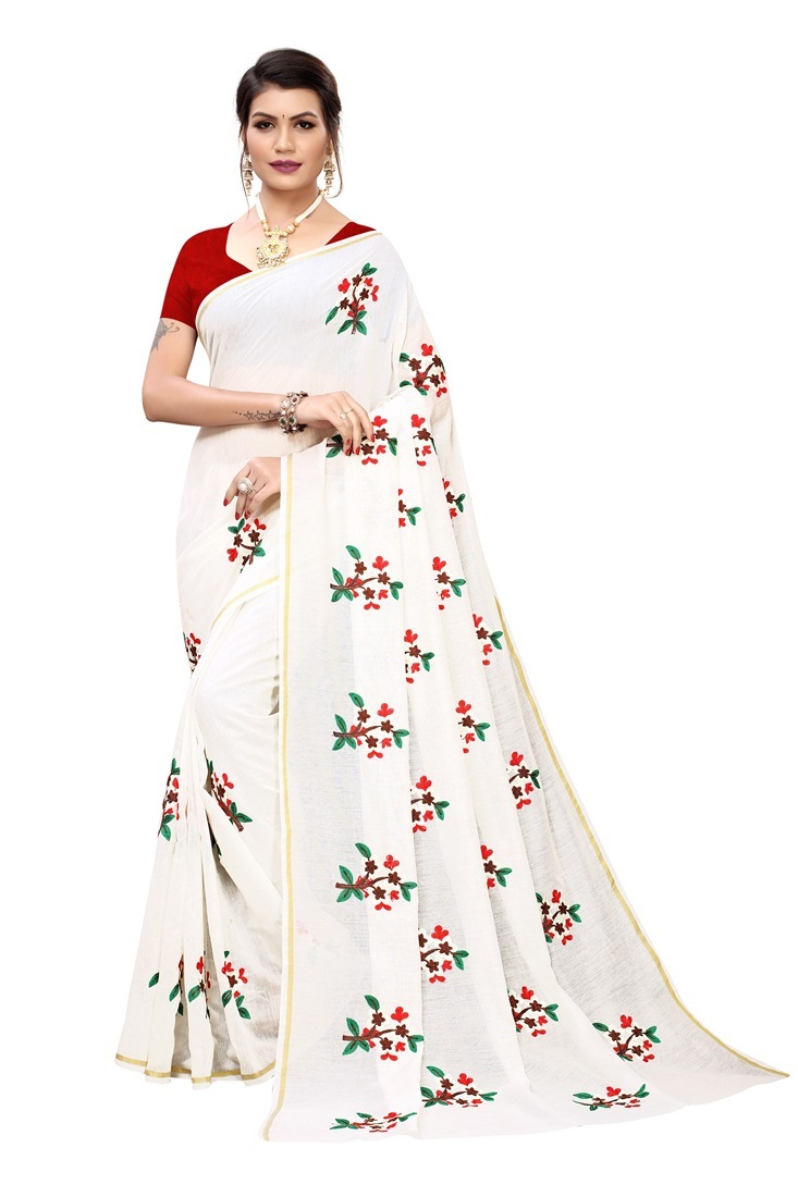 chandri cottan printed saree