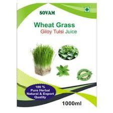 Wheatgrass giloy tulsi juice