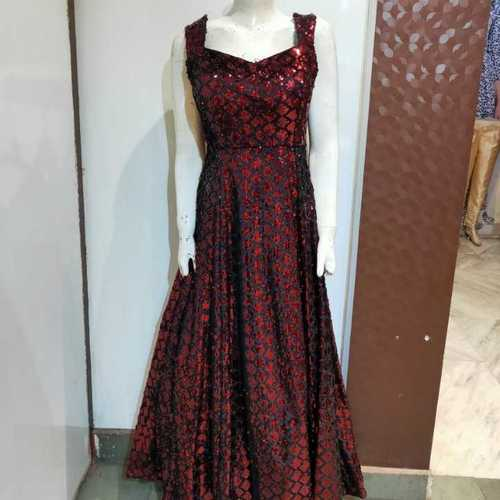 Party wear red gown